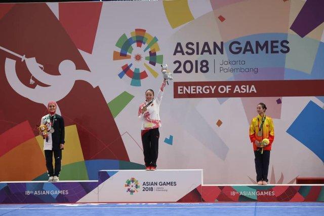 کیانی با کسب مدال نقره تالوی بازی های آسیایی تاریخ ساز شد